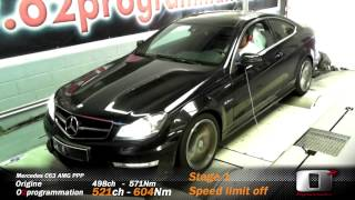 Mercedes C63 AMG  reprogrammation moteur stage 1 speed limit