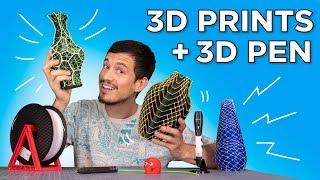 Upgrading 3D Prints with 3D Pens // Geeetech 3D Pen + 3Doodler Create+