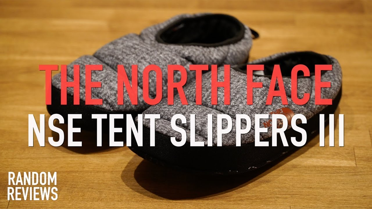 a11b7661c Best Indoor Slippers? The North Face Nse Tent Slippers III Review