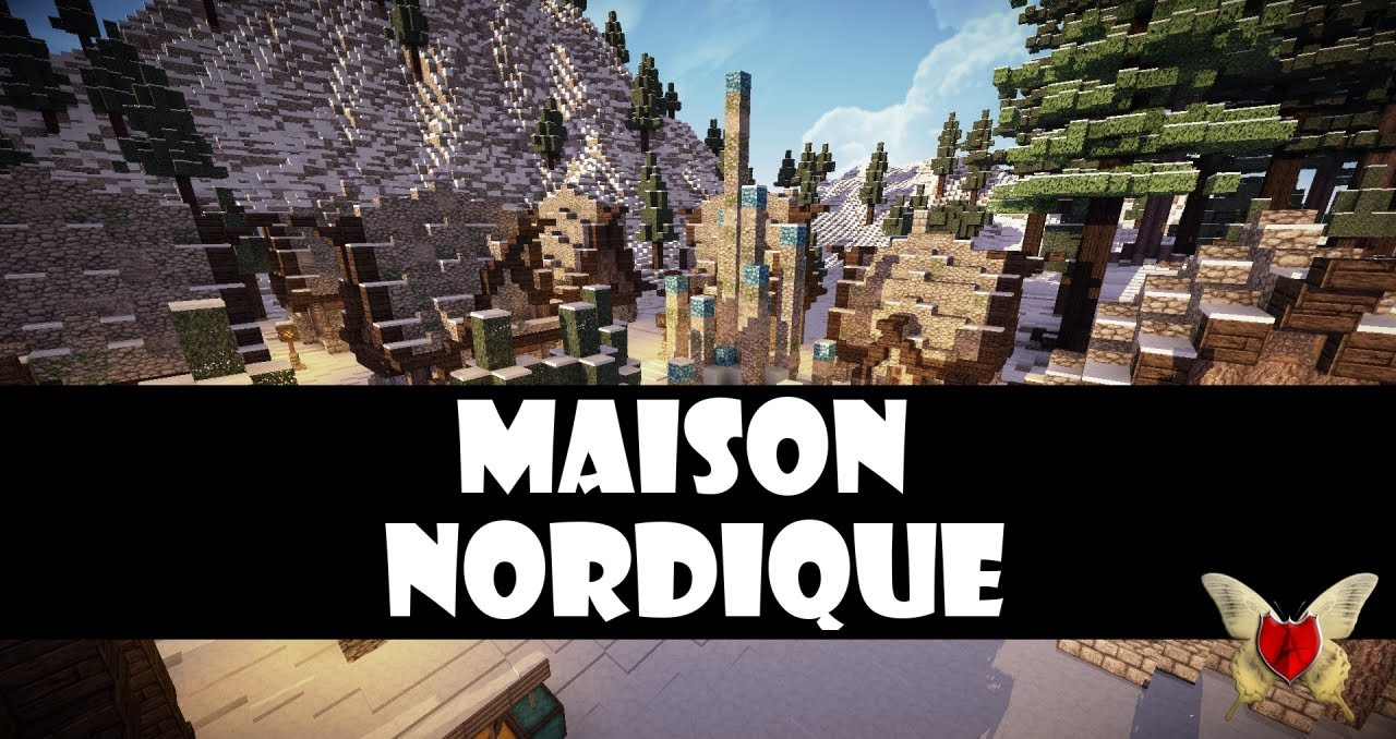 les mardi tutoriels comment cr er une maison minecraft de style nordique youtube. Black Bedroom Furniture Sets. Home Design Ideas