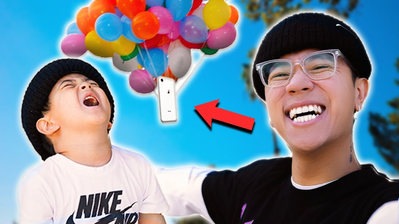 Download His Phone Flew Away w/ BALLOONS!! **PRANK SUCCESSFUL**