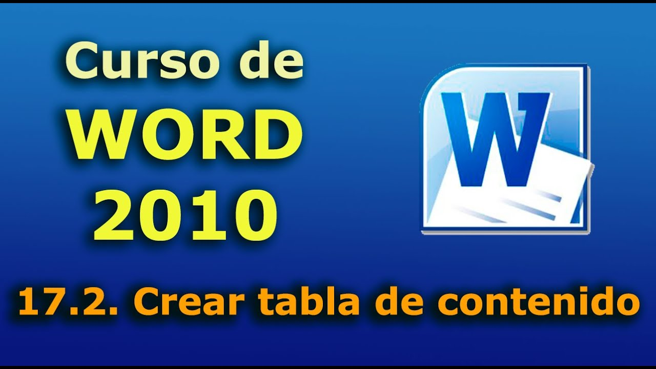 crear indice word 2019