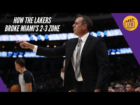 How the Lakers beat Miami's 2-3 Zone in the Regular Season