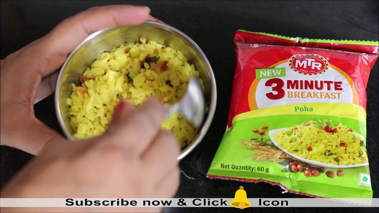 MTR 3 Minute Breakfast Poha Review | Best Ready to Eat Breakfast in India