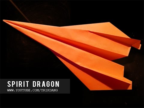 Papercraft 如何使一個紙飛機- 紙飛機教學- 摺紙飛機- 摺紙 |  Spirit Dragon