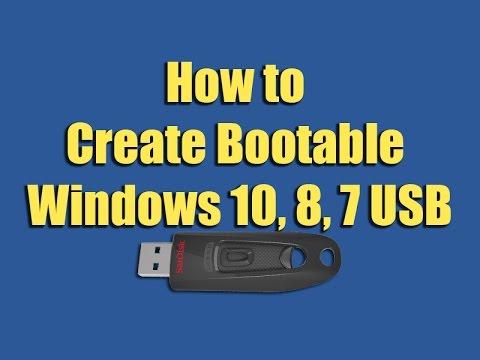 How To Create Bootable Windows 10, 8, 7 USB