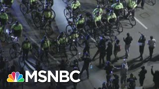 Protesters, Bike-Mounted Police Face Off In Boston | MSNBC