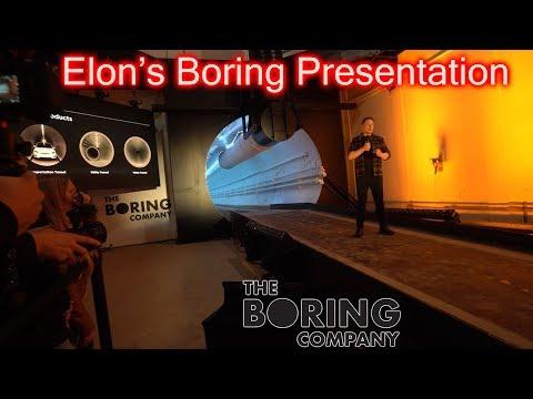 Elon's Boring Company Presentation. Full Speech.