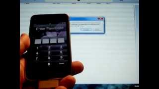 PASSWORD LOCKED iPod Touch - How to RESTORE a Disabled iPod with a lost Pass Code Unlock Video
