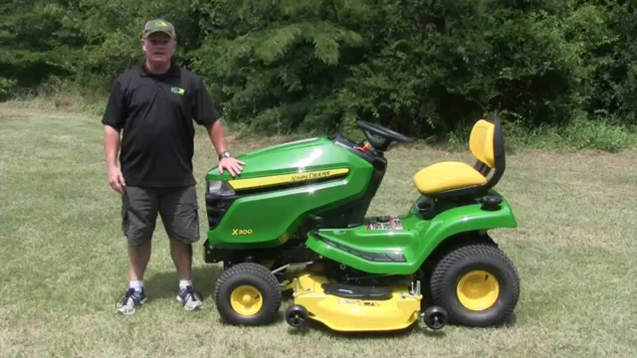 john deere x300 series important maintenance items youtube. Black Bedroom Furniture Sets. Home Design Ideas