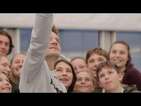 David Goffin verrast ballenjongens en -meisjes op de European Open 2019