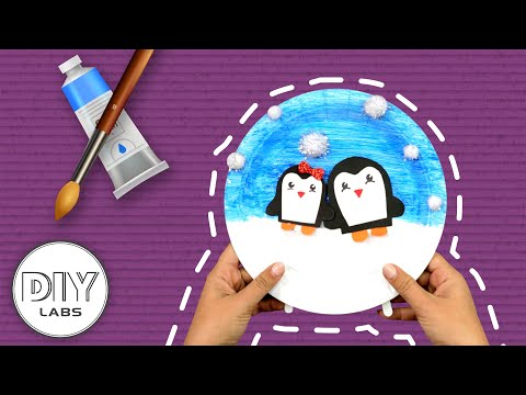 PENGUIN Winter Paper Plate Craft | Fast-n-Easy | DIY Arts & Crafts for Parents