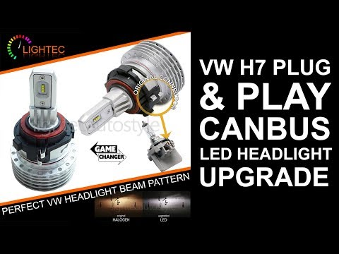 VW Golf Jetta Passat Tiguan Scirocco EOS H7 LED Headlight Bulbs Kit Canbus Plug&Play How To Install