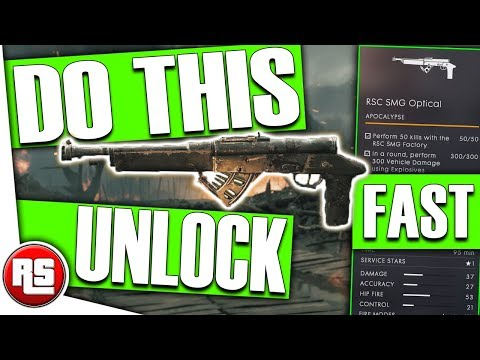 RSC SMG: How to unlock new weapon (FAST!) Battlefield 1 - Bf1 Apocalypse DLC , damage vehicles tips