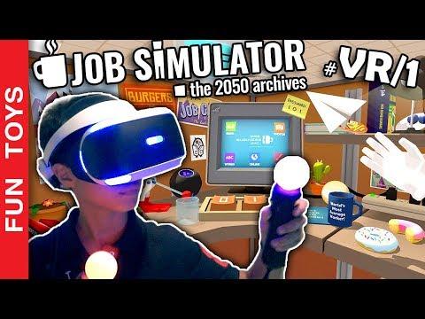 NOVA SÉRIE!!! Jogando VR pela primeira vez!! Começamos com JOB SIMULATOR na fase do Escritório #VR01