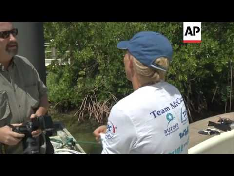 Australian says she will not make another attempt to cross Florida Straits