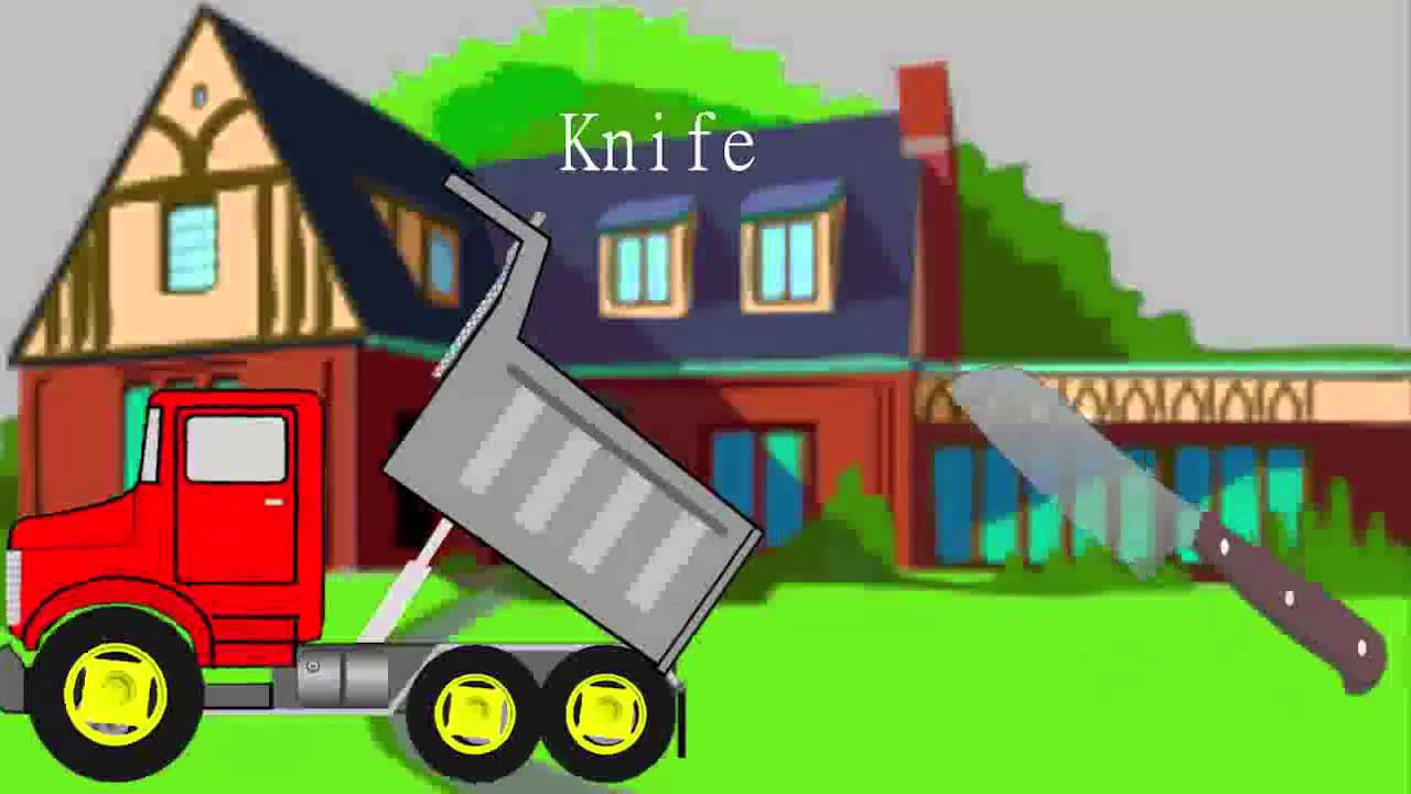 Kitchen utensils drawing for kids - Trucks For Children Kitchen Utensils Song Garbage Truck Videos For Children By Jeannetchannel Youtube