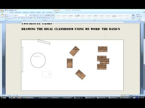 A Two-Minute Task: Drawing the ideal classroom using MS Word