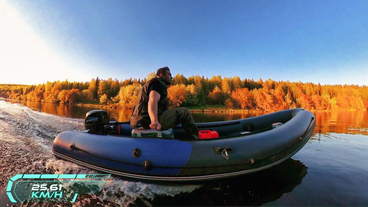 Обкатка нового лодочного мотора Gladiator 9.8 на лодке Кабот «Уран-460»