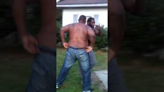 Two drunk brothers fight. To funny...