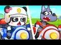 超級警察抓壞蛋 | 最新警車兒歌童謠 | 大灰狼卡通動畫 | 寶寶巴士 | 奇奇 | Learn Chinese | BabyBus