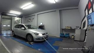 VW Golf 7 tdi 150cv DSG Reprogramamtion Moteur @ 186cv Digiservices Paris 77 Dyno