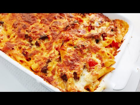 Mexican Chili Beef Pasta Bake