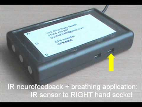 Infra-red temperature set-up for the GP8 biofeedback device