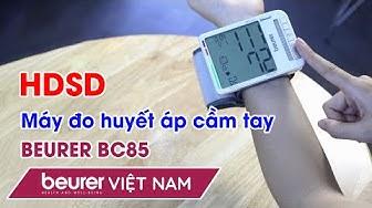 Cách sử dụng máy đo huyết áp cổ tay BC85   Beurer Việt Nam