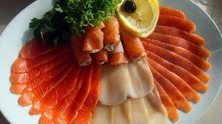 Рыбная нарезка. Фото