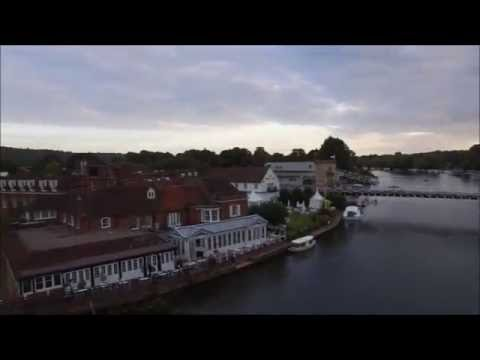 Flight over the Thames at Marlow, Bucks with DJI Phantom 3 drone