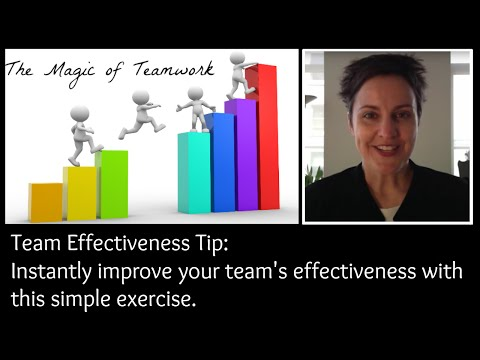 Improve your Team's Effectiveness with this Simple Exercise