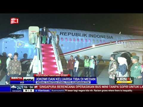 Jokowi dan Keluarga Tiba di Medan