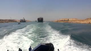 عبور تاريخى لأول 3 سفن فى قناة السويس الجديدة 25يوليو2015