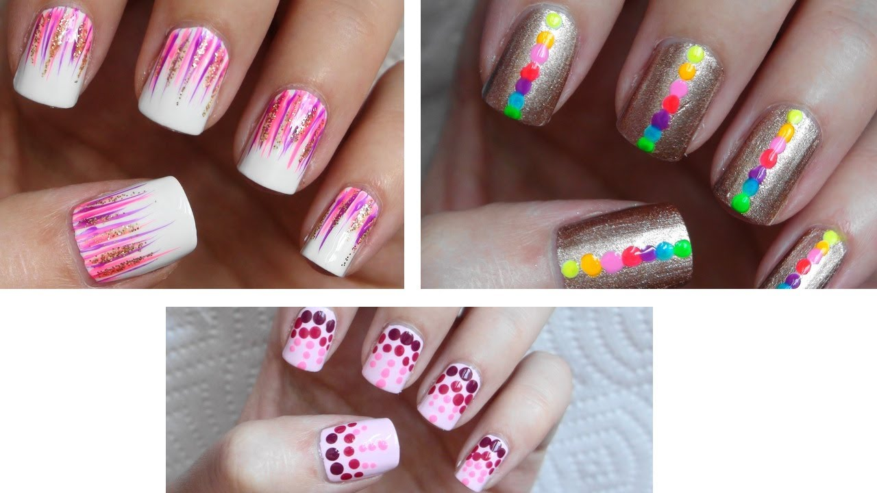 Easy nail art for beginners 6 youtube - Easy nail design ideas to do at home ...