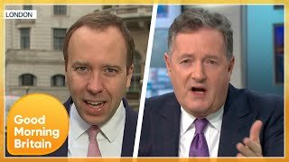 Matt Hancock Clashes With Piers as Government GMB Boycott Finally Ends | Good Morning Britain