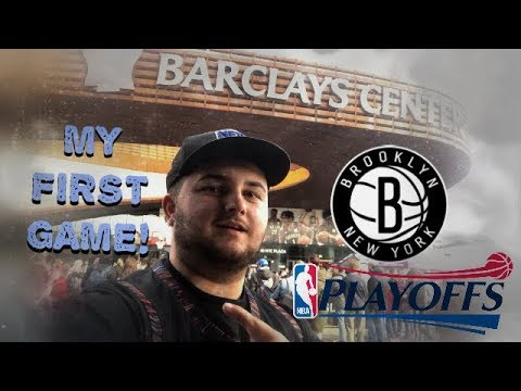 MY FIRST BROOKLYN NETS GAME! NBA PLAYOFF VLOG!