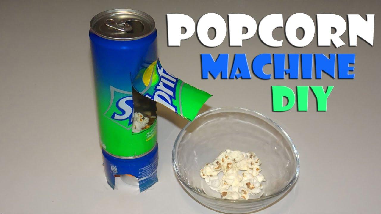 BAUEN Popcorn Maschine selber bauen selfmade popcorn maker