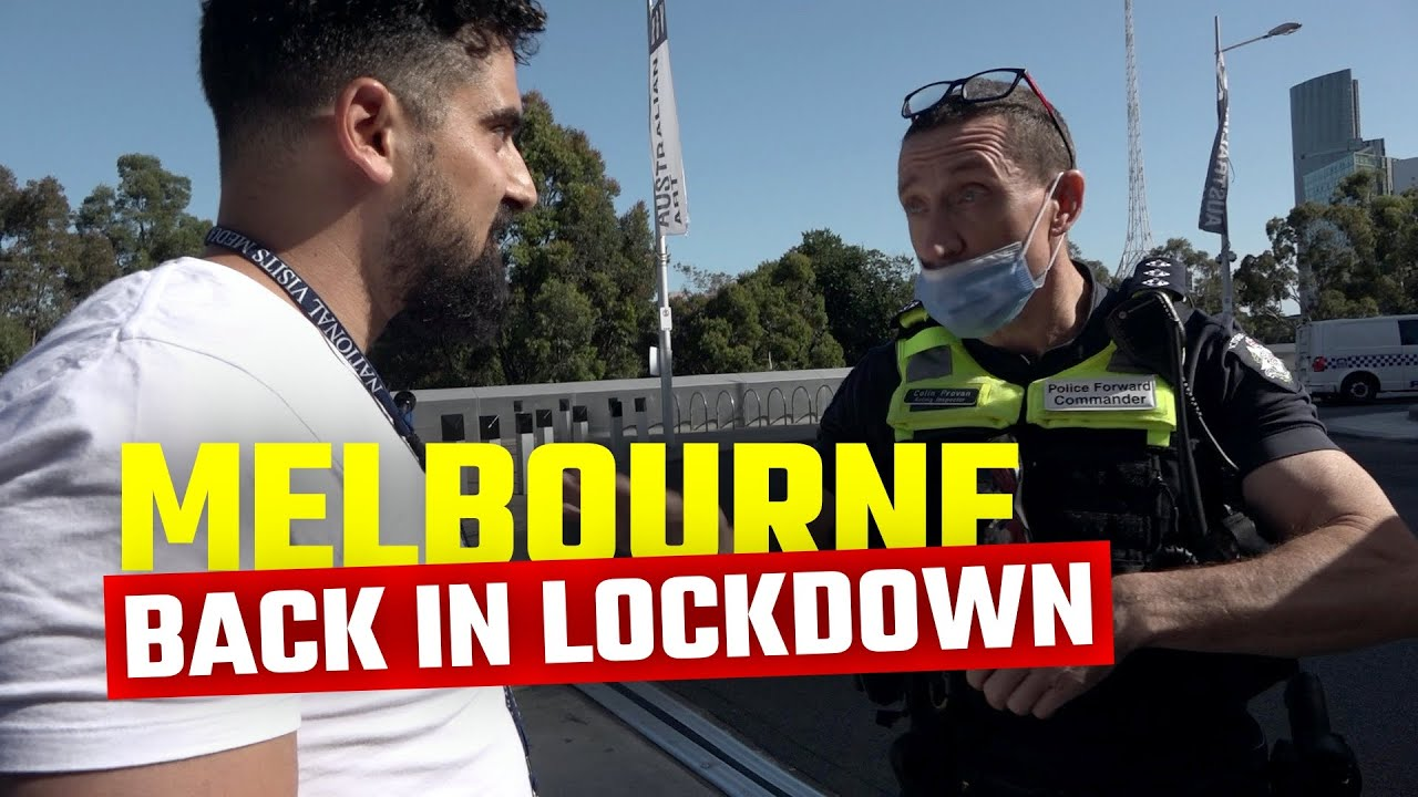 Melbourne Aussies Protest the 3rd lock down what the main stream doesn't want you to see