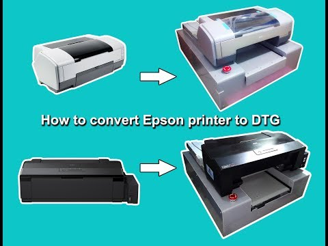 How to convert Epson printer to DTG
