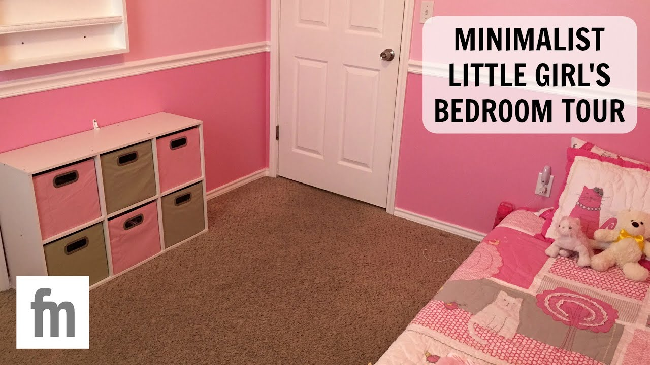 Minimalist little girl 39 s bedroom tour updated family for Minimalist family