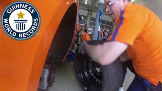 Fastest Wheel Change (car) - Guinness World Records