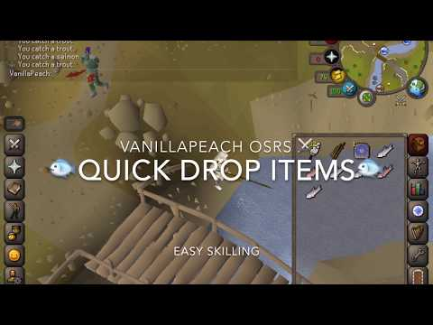 OSRS Quick Drop Items from Inventory