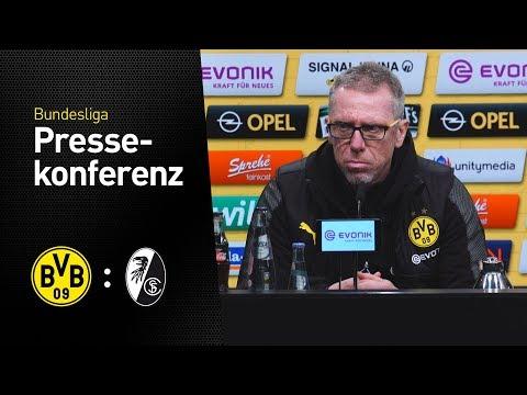 """""""Nehmen den Punkt gerne mit""""   Pressekonferenz mit Peter Stöger   BVB - SC Freiburg 2:2"""