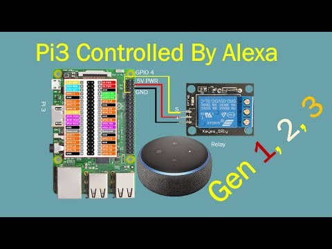 IOT  DIY Home Automation with Alexa | Raspberry Pi3 | Tutorial # 3