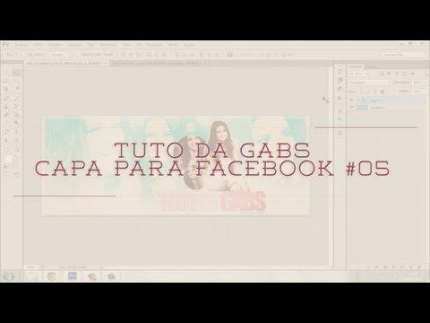 Tuto da Gabs - Capa para Facebook #05