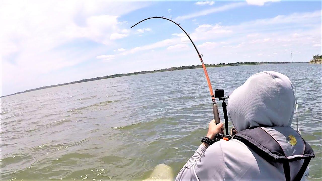 BIG Water Kayak Fishing Adventure!! (Solo Fishing)