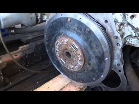 Marine inboard transmission and flywheel removal