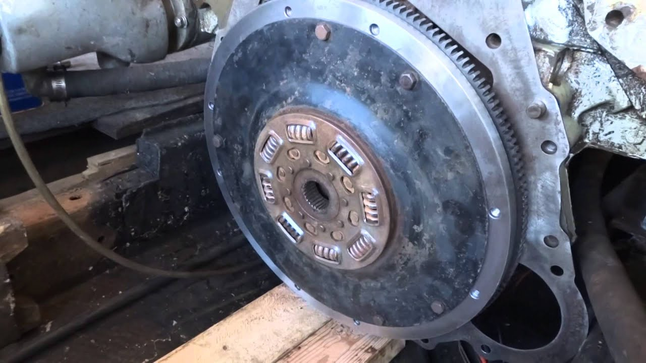 Marine inboard transmission and flywheel removal  YouTube