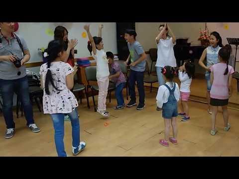 Game time on Kids Festival, day two, Sunday School, Koryo Saram Church, Saint-Petersburg, 04/07/2015
